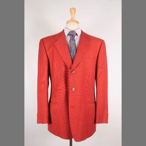 Ermenegildo Zegna 44L Orange Silk Sport coat B330